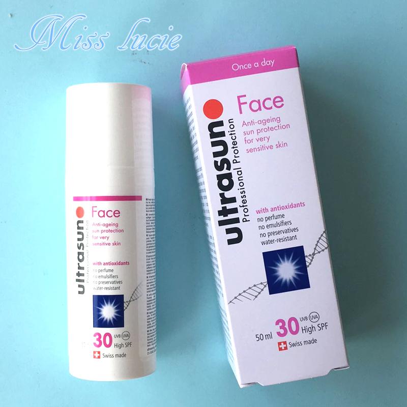 现货 瑞士ultrasun优佳面部防晒乳霜SPF30脸部专用防汗水男女50m