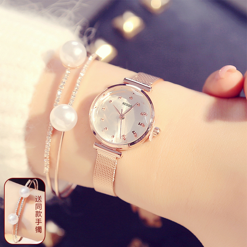 Watch womens ins style luxury ribbon fashion trend waterproof 2020 new small dial small exquisite womens Watch