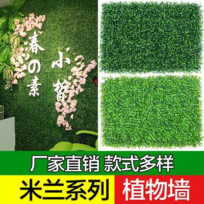 仿真植物墙绿植墙面装饰人造草坪草皮假花假草坪门头阳台植物米兰