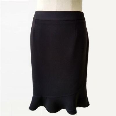 贝斯琦工厂店特价时尚职业女半身裙鱼尾裙百搭黑色女裙QX437DS