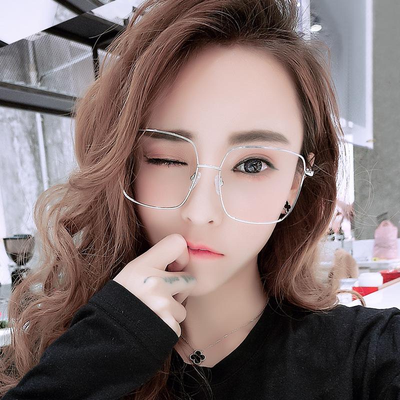 网红眼镜女明星同款眼镜框男圆脸方形大框近视眼镜架近视眼镜成品