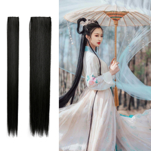 Super-long straight-haired old-fashioned wig film Xiao Long Nu one-piece long black-haired film studio shooting cos hair-receiving film in Chinese Costume