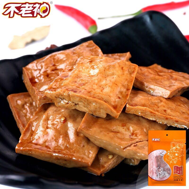 浙江不老神鲜汁豆腐干 零食真空装 225g香辣豆腐干货美味升级热卖