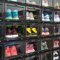 纳美嘉鞋盒储物展示防氧化塑料球鞋收藏直立收纳高帮球鞋AJ鞋架