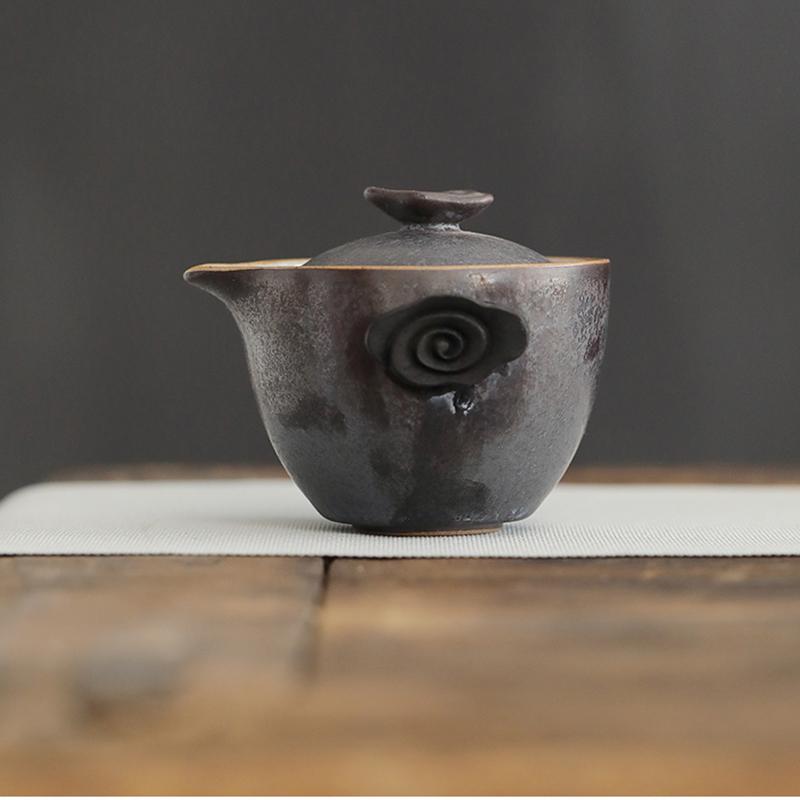 陶瓷功夫干泡茶具个人办公快客杯旅行小茶台