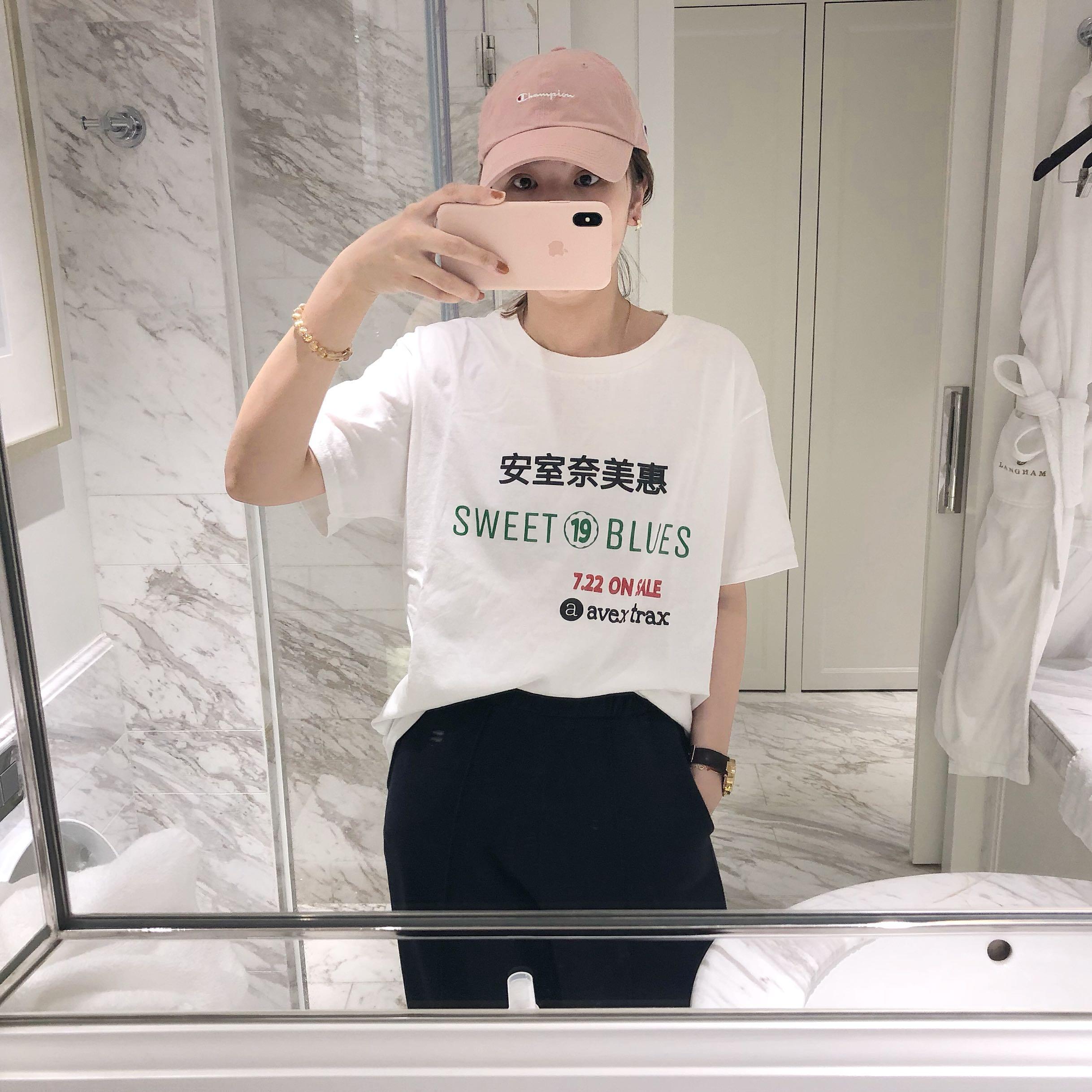 Кузена домашняя верх Вы футболка Amuro Namie
