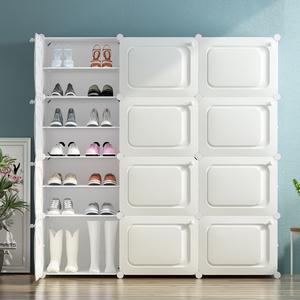 领10元券购买简易鞋架子经济型家用门口宿舍塑料防尘省空间鞋子收纳多层小鞋柜