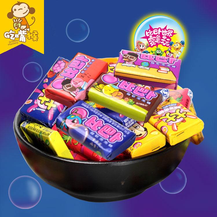 「吃嘴猴」经典怀旧零食比巴卜大大泡泡糖桶装小时候的味道包邮
