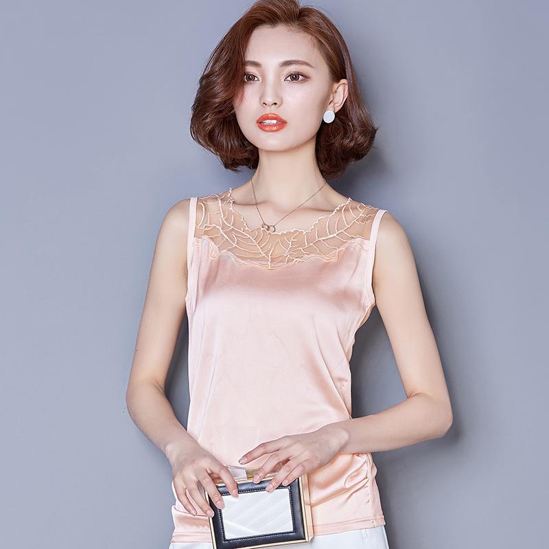 京�|�物商城2018新款春�b蘑菇街淘��美搭夏装百搭女装镂空缎面蕾