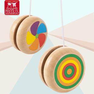 传统木质儿童溜溜球回旋学生幼儿园yoyo玩具女孩男孩子彩色悠悠球