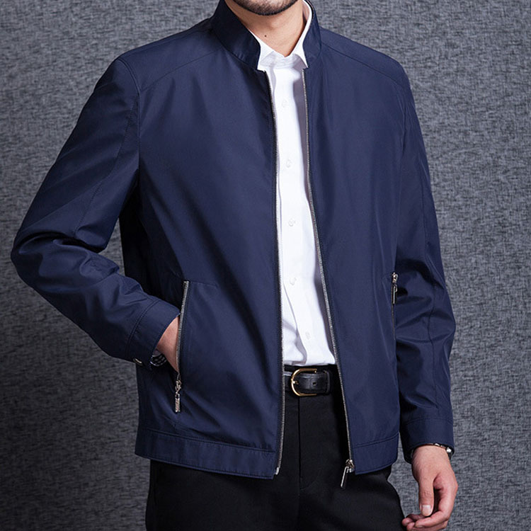 2017 spring and autumn new jacket mens coat mens leisure business middle aged dads jacket mens top
