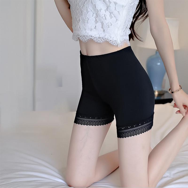 大码女装2018胖mm夏装新款女士蕾丝短裤加肥加大码防走光安全裤薄