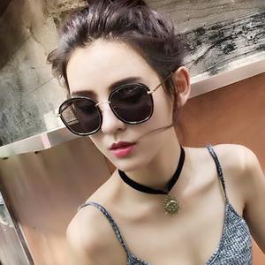 领15元券购买2019新款ins女韩版潮gm圆脸太阳镜
