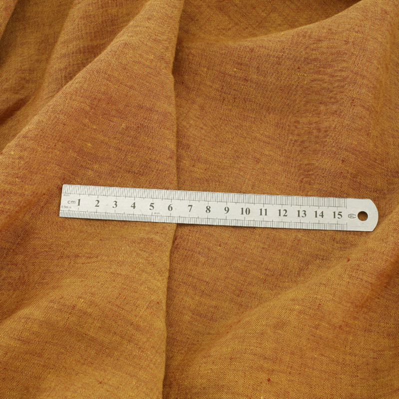 High end yarn dyed linen classic solid color clothing fabric dress pants robe casual fabric (shuoyeng)