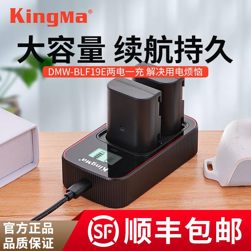劲码DMW-BLF19E电池for松下单反相机DMC-GH3 GH5 GH4 DC-G9LGK USB充电器 松下GH5S电池非原装数码照相机配件