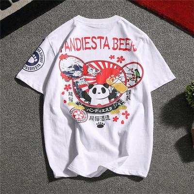 14大码短袖T恤男装潮流中国风纯棉宽松潮男加大码日系体恤T23-P35
