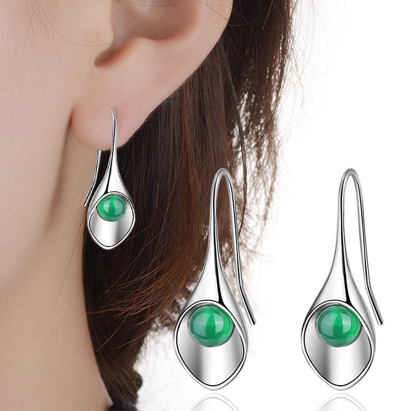 185f8c569 Ning Language Agate Earring Earrings Women's Day and South Korea  temperament ear hook Tremella jewelry Manufacturers Popular | ezbuy.my