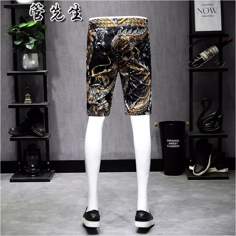 Personalized underworld domineering dragon Print Shorts mens Capris big size trend loose casual fast dry beach