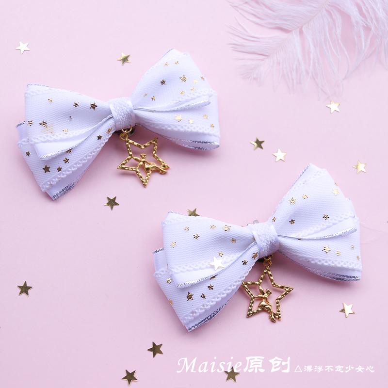 【MAISIE原创】星降Lolita二版蝴蝶结鞋夹洛丽塔天使鞋扣鞋饰鞋花