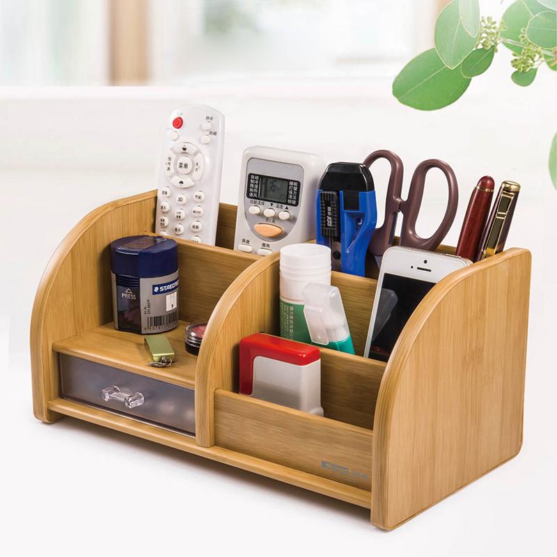金隆兴桌面创意木质收纳盒遥控器盒钥匙笔化妆盒客厅茶几整理收纳淘宝优惠券