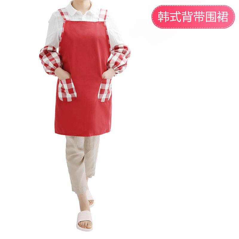 日本围裙可爱厨房防水防油时尚家务清洁围裙男女半身围腰工作服