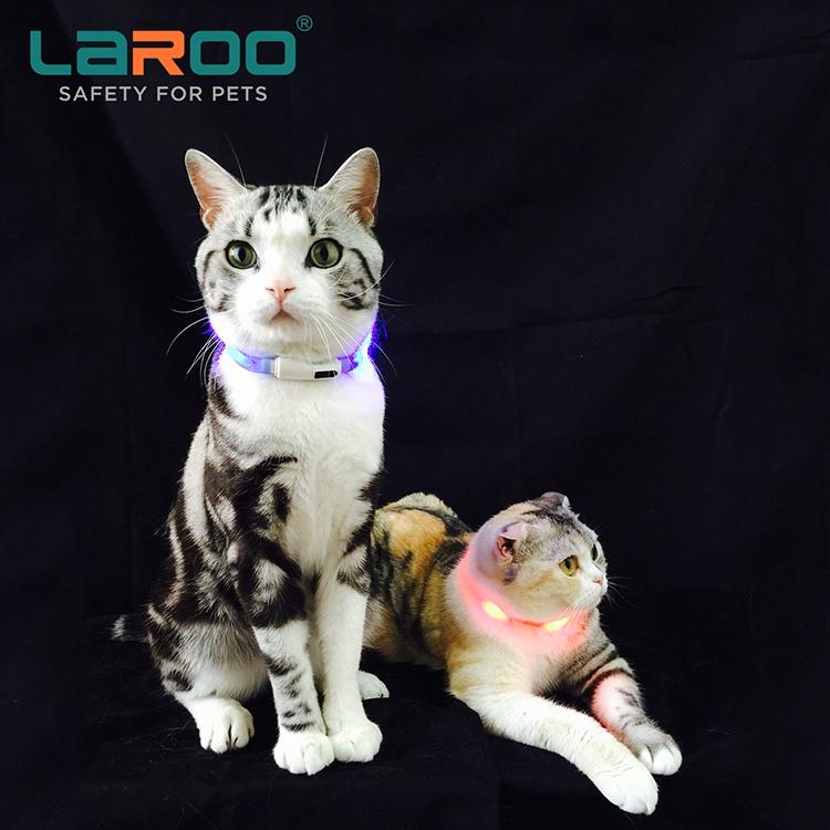 莱诺可爱小型犬猫发光项圈 我的猫咪躲在哪里充电品牌亮光脖圈