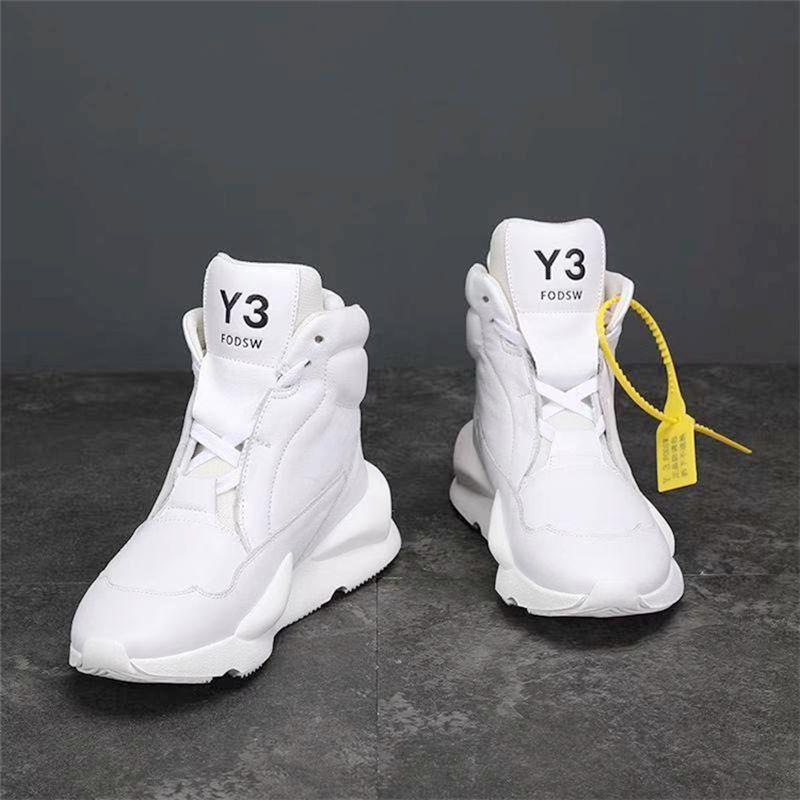 冬の新型Y 3 FODSWハイヒール男性黒武士本革カジュアル革靴ファッション靴流行靴