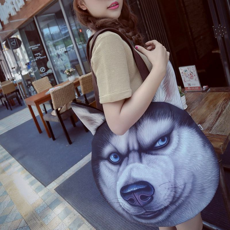 Creative God annoying husky doghead big bag personality Doge funny single shoulder bag meow Star Man Wang Xing peoples Satchel