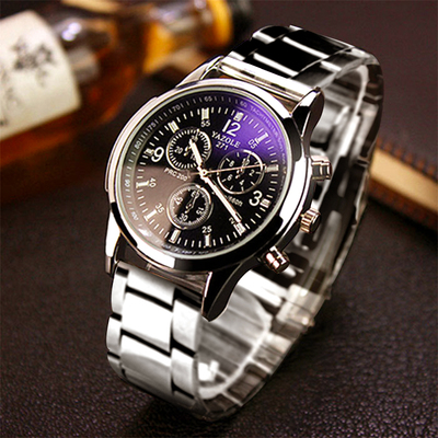 Korean version of the men's sports fashion leisure belt with the trend of mechanical quartz watch students waterproof Korean simple watch