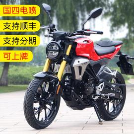 新款可上牌V8摩托车跑车国四电喷摩托车整车150cc机车街车公路赛图片