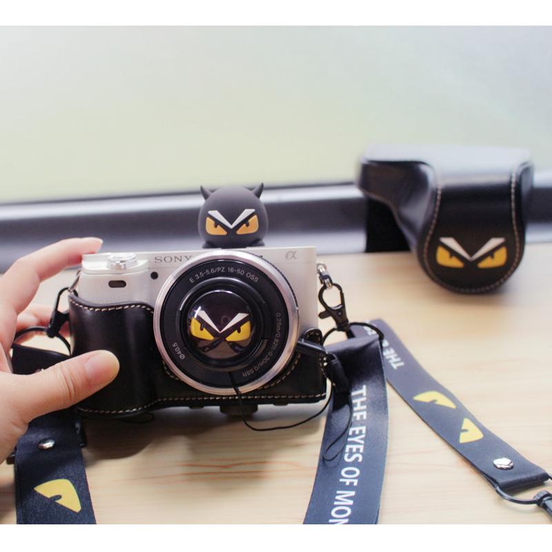 小怪兽m50皮套m6保护套m3相机包A6000便携适用佳能m100索尼A6400
