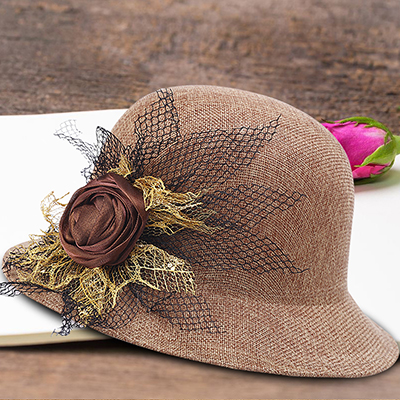 Womens hat 2020 spring and summer Korean linen new womens hat outdoor sun visor fashion classic flower package