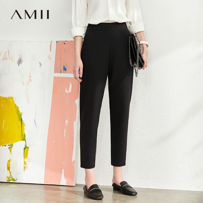 Amii极简百搭通勤锥形休闲九分裤2020夏季新款修身显瘦萝卜裤子女