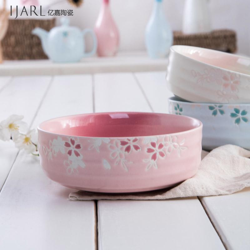 ijarl億嘉 陶瓷碗日韓式麵碗湯碗大碗早餐碗泡麵碗甜品碗家用
