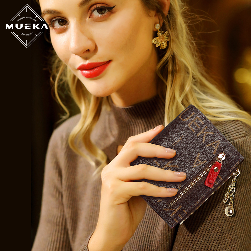 Wallet women 2020 new multi Card mini small and thin short womens wallet multifunctional folding change bag