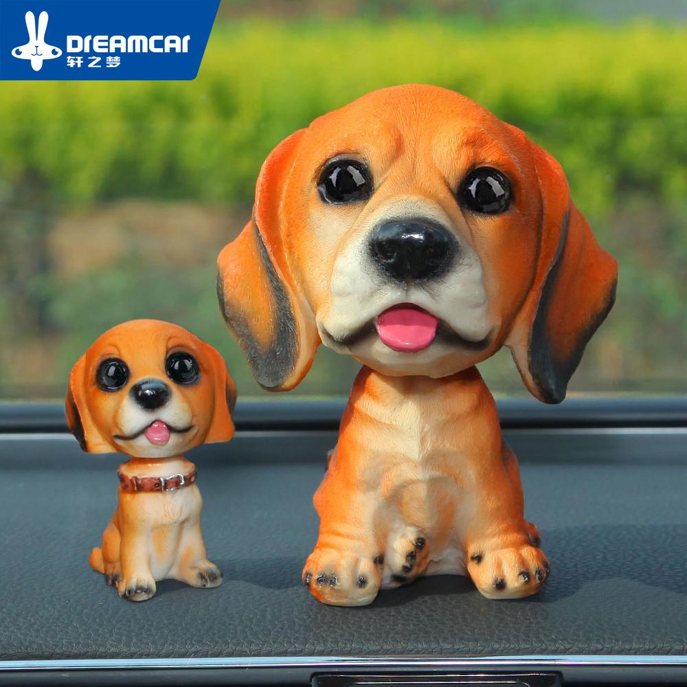 搖頭狗 汽車擺件車內保平 飾品高檔車載車用可愛卡通公仔狗