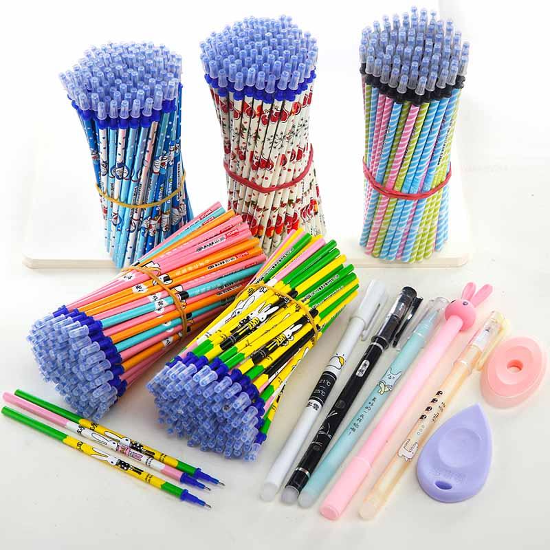 摩易擦可擦笔芯0.38mm晶蓝黑色魔力热消可擦中性笔芯魔力擦水笔芯券后2.90元