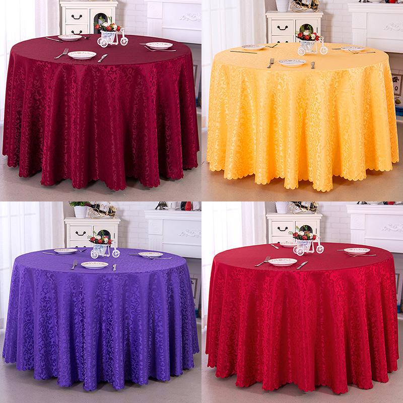 酒店大圆桌桌布布艺餐桌布台布长方形饭店家用桌布圆形桌布圆桌布