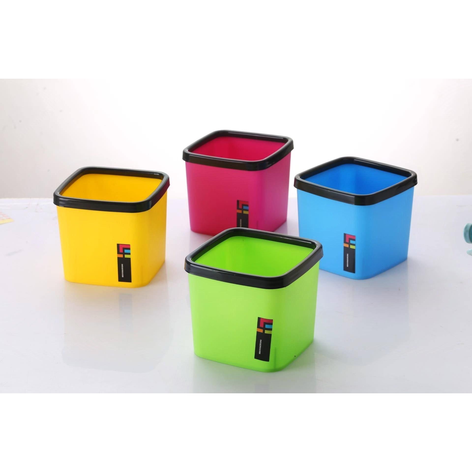 日本桌面垃圾桶创意家用床头迷你带盖小号翻盖按压式塑料收纳小筒