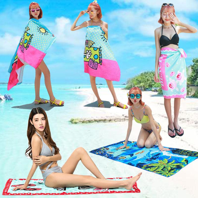 速干浴巾男女旅行超轻沙滩垫巾便携式飞机毯吸水运动游泳超大毛巾
