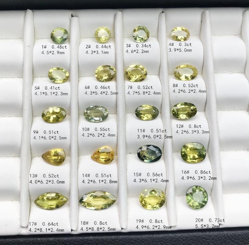 矿区直销天然黄色蓝宝石彩色裸石定制镶嵌925银18K金戒指吊坠
