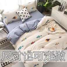可定做特殊尺寸被套榻榻米畸形超大床单床笠床裙款全棉纯棉四件套