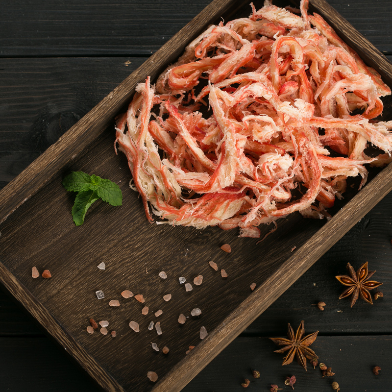 Qiuzhong specialty carbon roasted shredded squid 80g hand shredded office seafood snack instant seafood dry goods