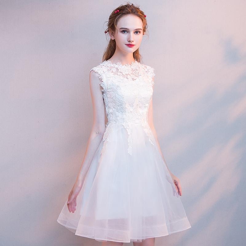 小礼服裙夏季短款宴会学生晚礼服(非品牌)