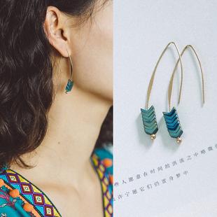 夢的馬復古耳環氣質波西米亞小清新耳墜民族風耳飾簡約度假配飾