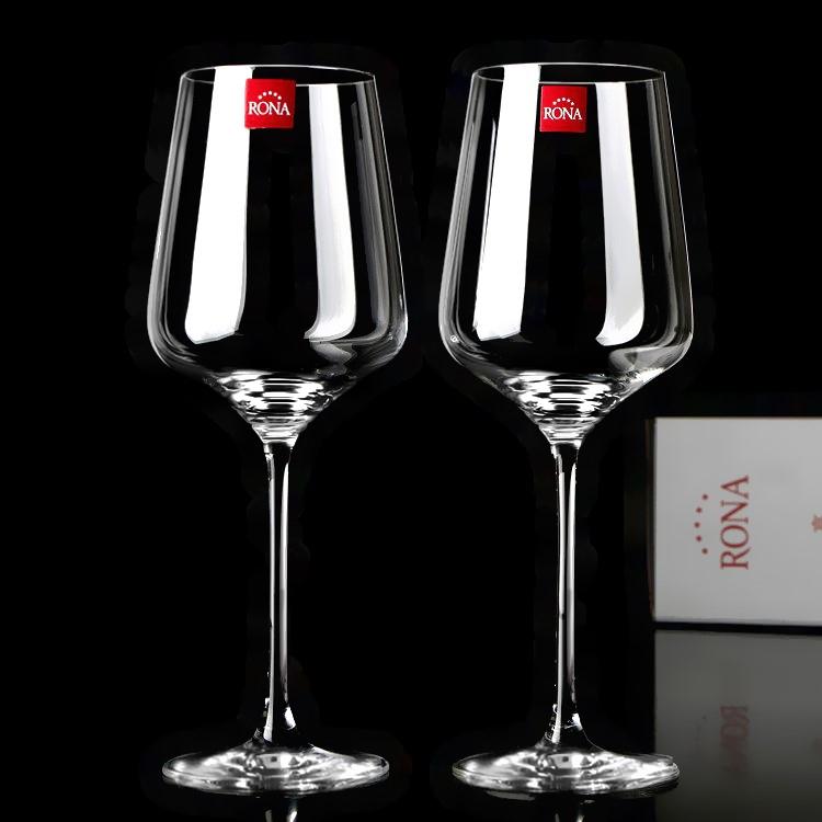 捷克RONA红酒杯葡萄酒杯 礼盒 高脚杯进口水晶玻璃杯子酒具套装 Изображение 1