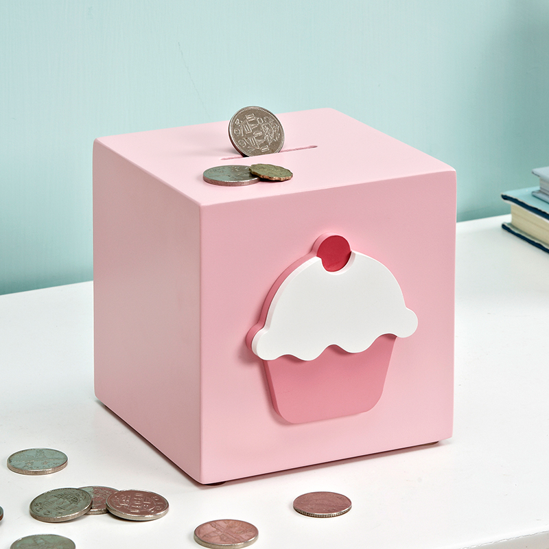 Creative cartoon piggy bank cake birthday gift Coin Piggy Bank children's model room home decoration