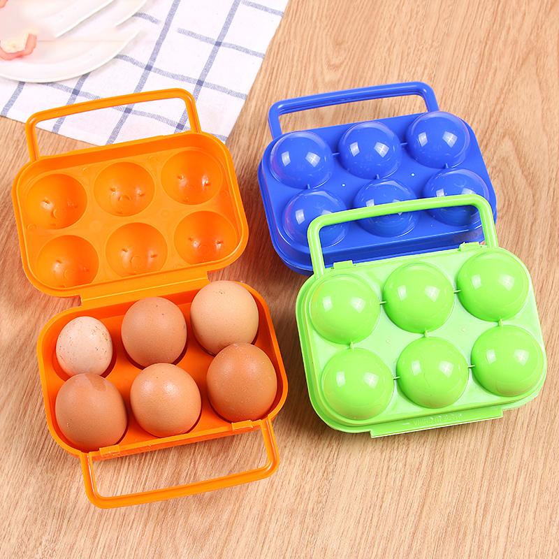 创意便携式手提鸡蛋收纳盒冰箱放蛋保鲜分格塑料盒子厨房储物用品