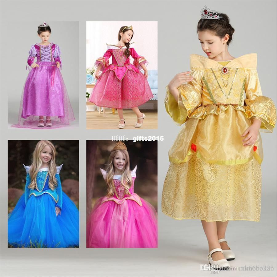 Halloween Cosplay Baby Girls Dress Cinderella Children Sleep