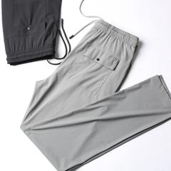 Cao cấp mượt vải căng thoải mái và mặc phần mỏng quần âu mùa hè màu sắc tương phản của nam giới chân thời trang quần Wei quần